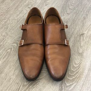 Zara brown double monkstrap shoes
